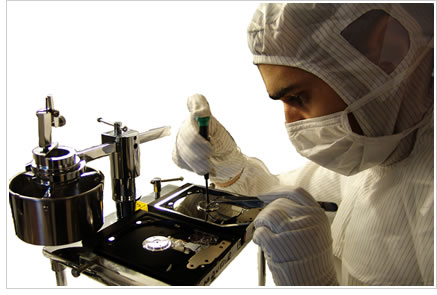 www.EManDataRecovery.com used clean room technology for hard drive repair and data recovery services.